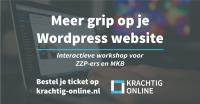 Workshop: Meer grip op je Wordpress website